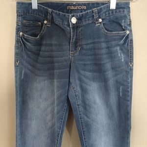 Maurices Mid Rise Cropped Skinny Jeans Sz 1/2R